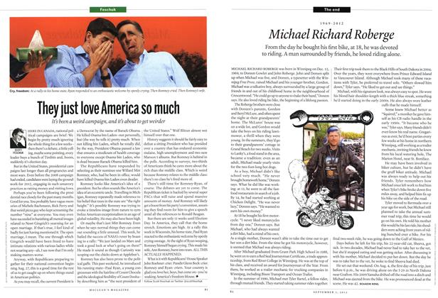 Article Preview: 1969-2012 Michael Richard Roberge, SEPT. 3, 2012 2012 | Maclean's