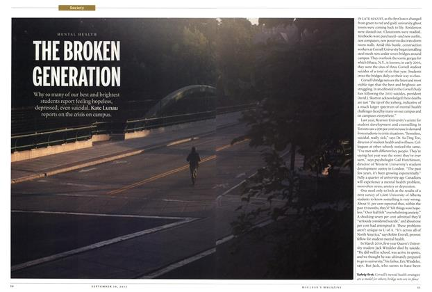 Article Preview: THE BROKEN GENERATION, SEPT. 10, 2012 2012 | Maclean's