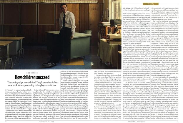 Article Preview: How children succeed, SEPT. 10, 2012 2012 | Maclean's