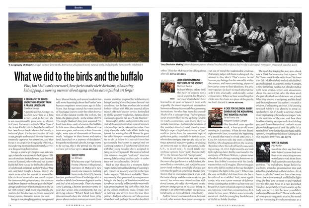 Article Preview: What we did to the birds and the buffalo, SEPT. 10, 2012 2012 | Maclean's