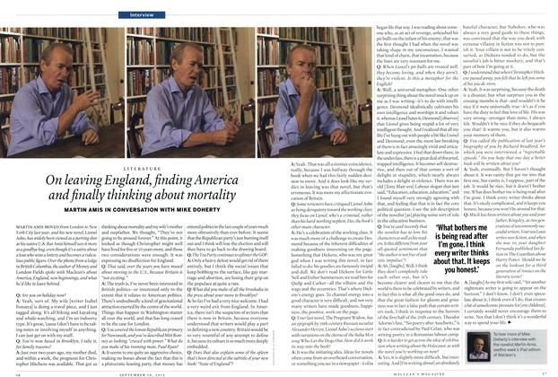 Article Preview: On leaving England, finding America and finally thinking about mortality, SEPT. 10, 2012 2012   Maclean's