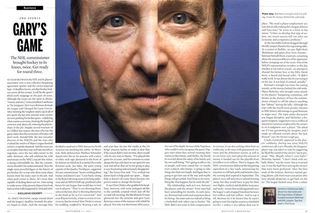 Article Preview: GRAY'S GAME, SEPT. 17, 2012 2012 | Maclean's