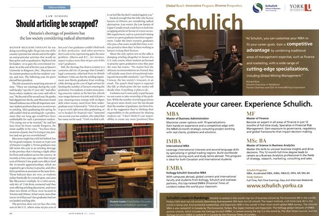 Article Preview: Should articling be scrapped?, SEPT. 17, 2012 2012 | Maclean's
