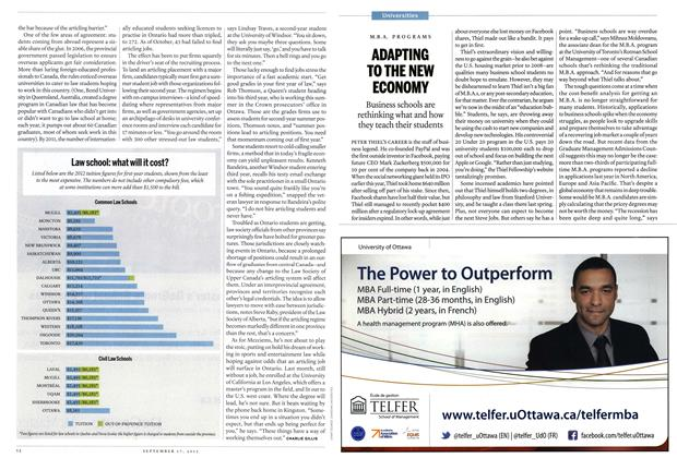 Article Preview: ADAPTING TO THE NEW ECONOMY, SEPT. 17, 2012 2012 | Maclean's