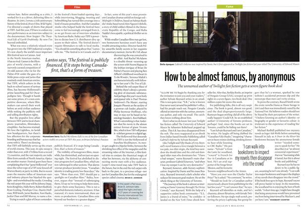Article Preview: How to be almost famous, by anonymous, SEPT. 17, 2012 2012 | Maclean's
