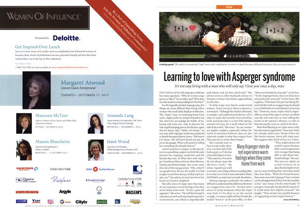 Article Preview: Learning to love with Asperger syndrome, SEPT. 17, 2012 2012 | Maclean's