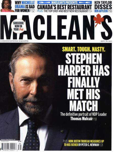 Issue: - SEPT. 24, 2012 | Maclean's