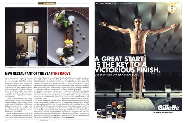Article Preview: NEW RESTAURANT OF THE YEAR THE GROVE, SEPT. 24, 2012 2012 | Maclean's