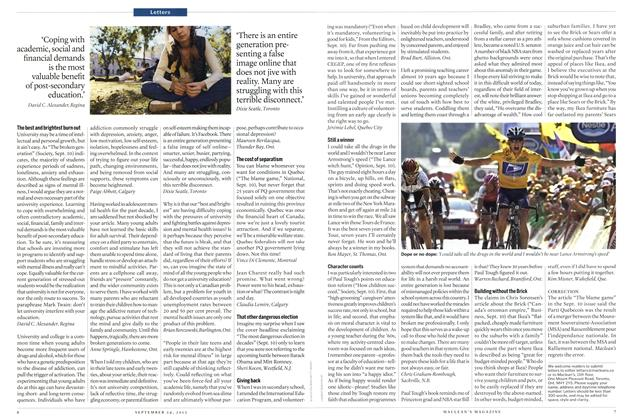 Article Preview: Letters, SEPT. 24th 2012 | Maclean's
