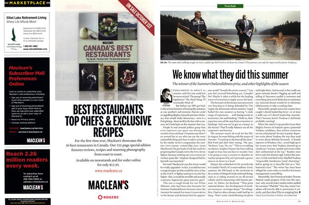 Article Preview: We know what they did this summer, SEPT. 24, 2012 2012 | Maclean's