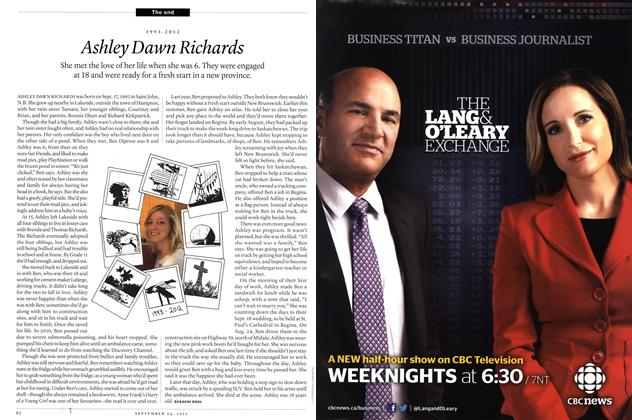 Article Preview: 1993-2012 Ashley Dawn Richards, SEPT. 24th 2012 | Maclean's