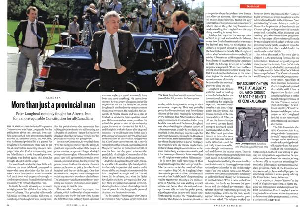 Article Preview: More than just a provincial man, October 2012 | Maclean's