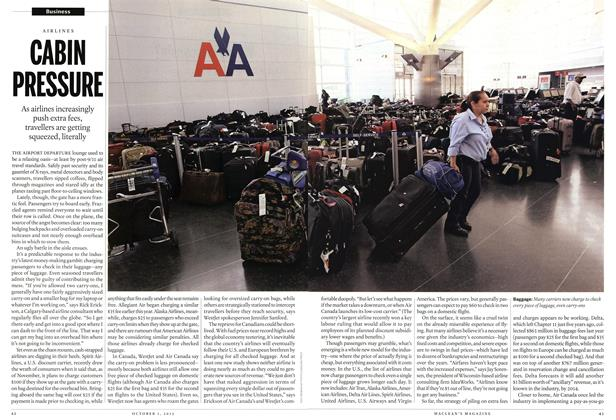 Article Preview: CABIN PRESSURE, October 2012 | Maclean's