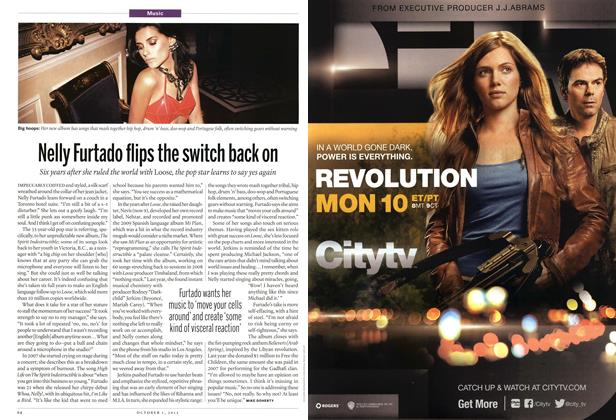 Article Preview: Nelly Furtado flips the switch back on, October 2012 | Maclean's