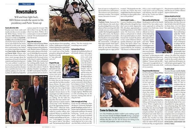 Article Preview: Newsmakers, October 2012 | Maclean's
