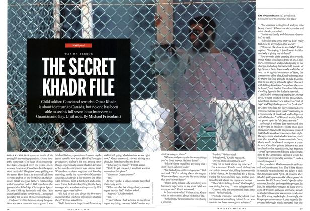 Article Preview: THE SECRET KHADR FILE, October 2012 | Maclean's