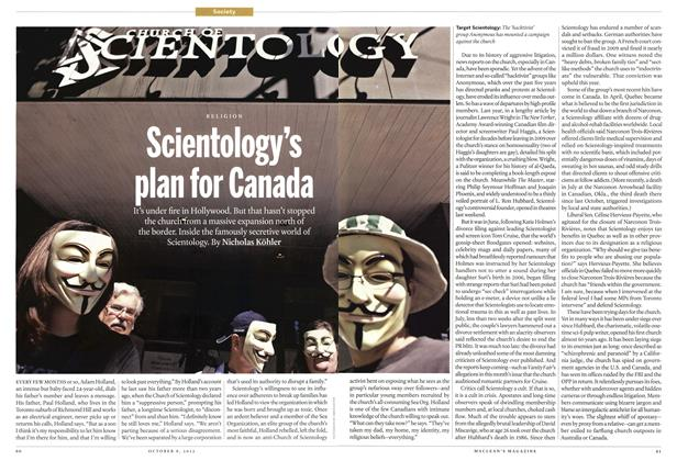 Article Preview: Scientology's plan for Canada, October 2012 | Maclean's