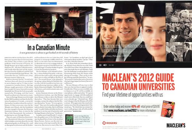 Article Preview: In a Canadian Minute, October 2012 | Maclean's