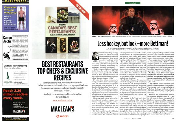 Article Preview: Less hockey, but look-more Bettman!, October 2012 | Maclean's
