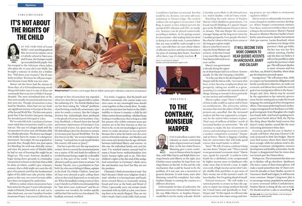 Article Preview: TO THE CONTRARY, MONSIEUR HARPER, October 2012 | Maclean's