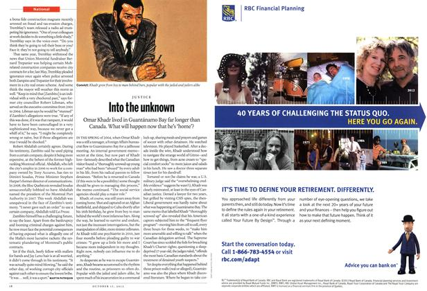 Article Preview: Into the unknown, October 2012 | Maclean's