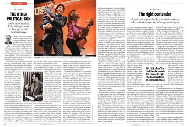 Article Preview: The right contender, October 2012 | Maclean's