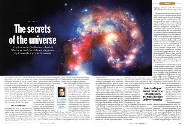 Article Preview: The secrets of the universe, October 2012 | Maclean's