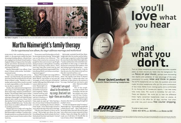 Article Preview: Martha Wainwright's family therapy, October 2012 | Maclean's