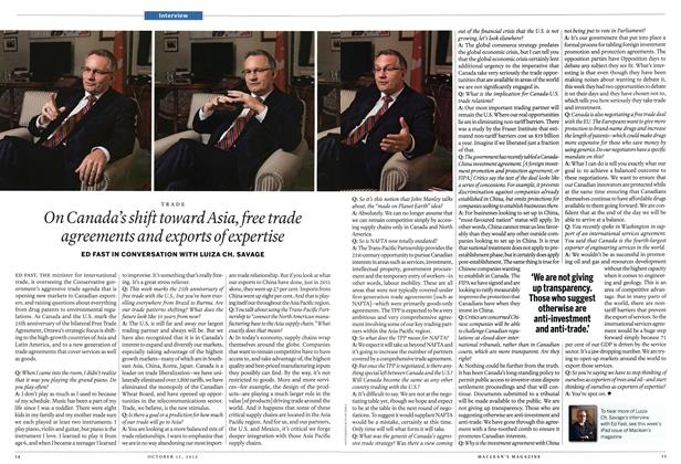 Article Preview: On Canada's shift toward Asia, free trade agreements and exports of expertise, October 2012 | Maclean's