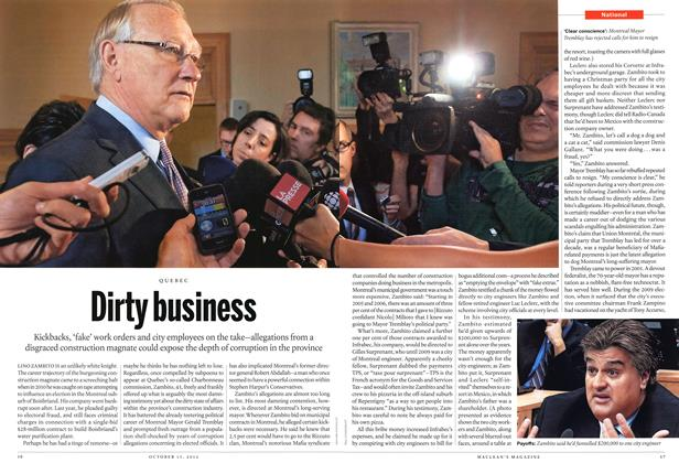 Article Preview: Dirty business, October 2012 | Maclean's