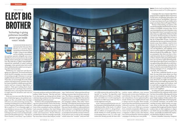 Article Preview: ELECT BIG BROTHER, October 2012 | Maclean's