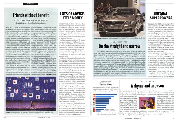 Article Preview: On the straight and narrow, October 2012 | Maclean's
