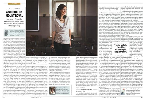 Article Preview: A SUICIDE ON MOUNT ROYAL, October 2012 | Maclean's
