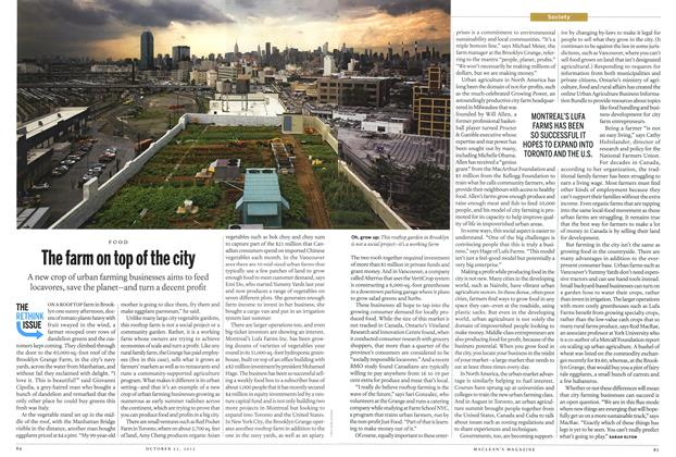 Article Preview: The farm on top of the city, October 2012 | Maclean's