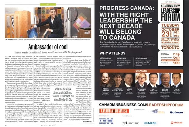 Article Preview: Ambassador of cool, October 2012 | Maclean's