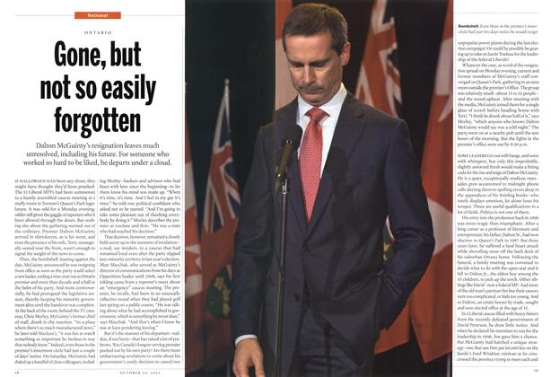 Article Preview: Gone, but not so easily forgotten, October 2012 | Maclean's