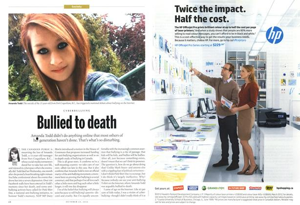Article Preview: Bullied to death, October 2012 | Maclean's