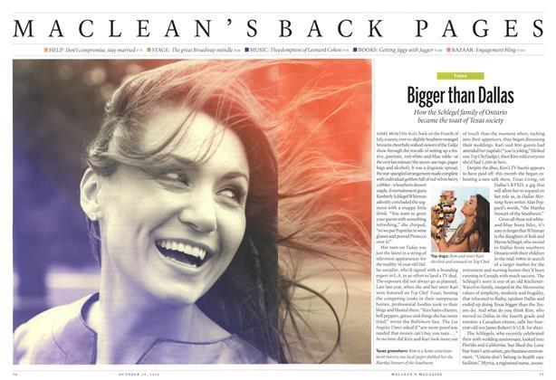 Article Preview: Bigger than Dallas, October 2012 | Maclean's