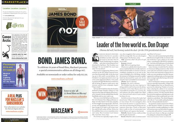 Article Preview: Leader of the free world vs. Don Draper, October 2012 | Maclean's