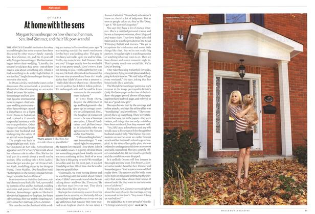 Article Preview: At home with the sens, November 2012 | Maclean's