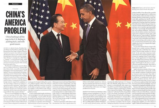 Article Preview: CHINA'S AMERICA PROBLEM, November 2012 | Maclean's