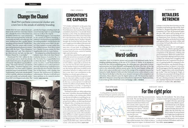 Article Preview: Change the Chanel, November 2012 | Maclean's