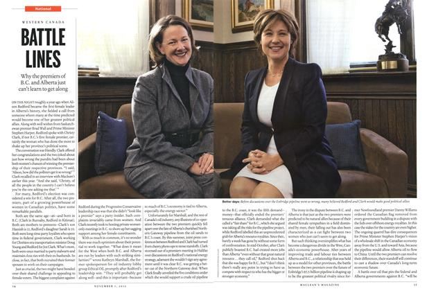 Article Preview: BATTLE UNES, November 2012 | Maclean's