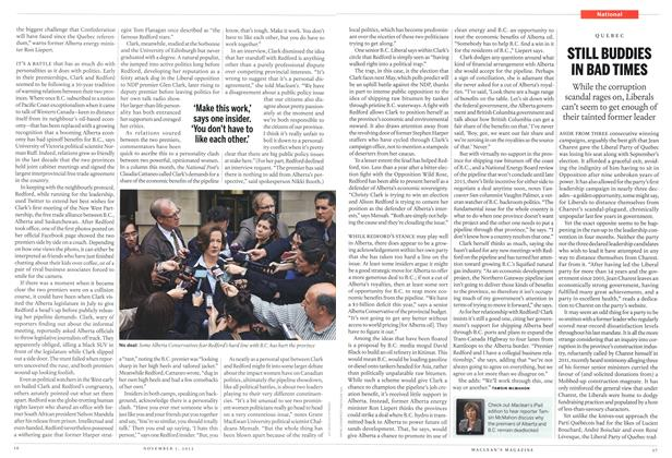 Article Preview: STILL BUDDIES IN BAD TIMES, November 2012 | Maclean's