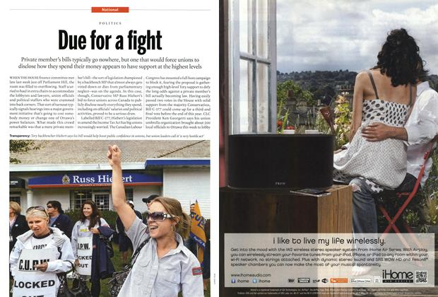 Article Preview: Due for a fight, November 2012 | Maclean's