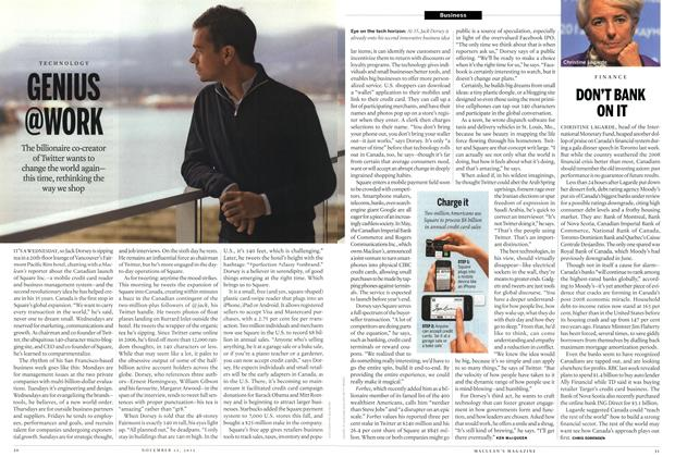 Article Preview: DON'T BANK ON IT, November 2012 | Maclean's