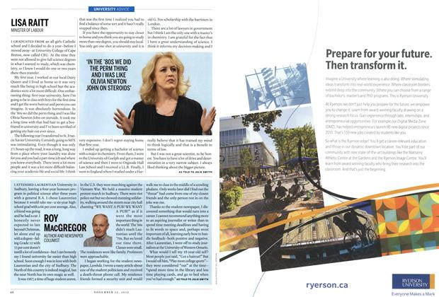 Article Preview: LISA RAITT, November 2012 | Maclean's
