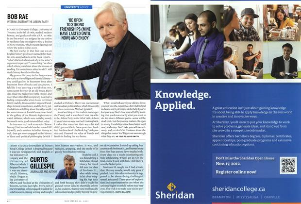 Article Preview: BOB RAE, November 2012 | Maclean's
