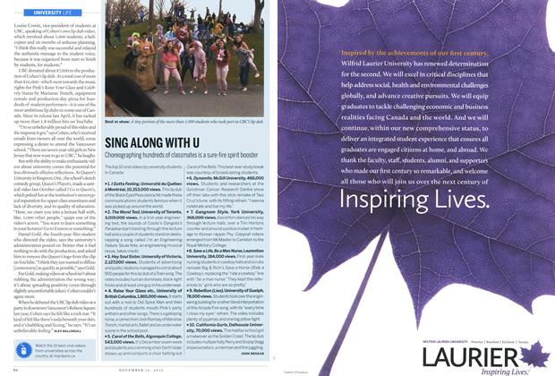 Article Preview: SING ALONG WITH U, November 2012 | Maclean's