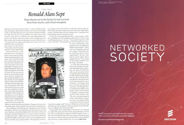 Article Preview: Ronald Alan Sept, November 2012 | Maclean's